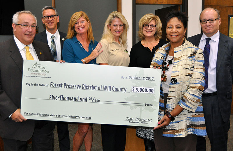 Photo for: Foundation donates $5,000 to Forest Preserve