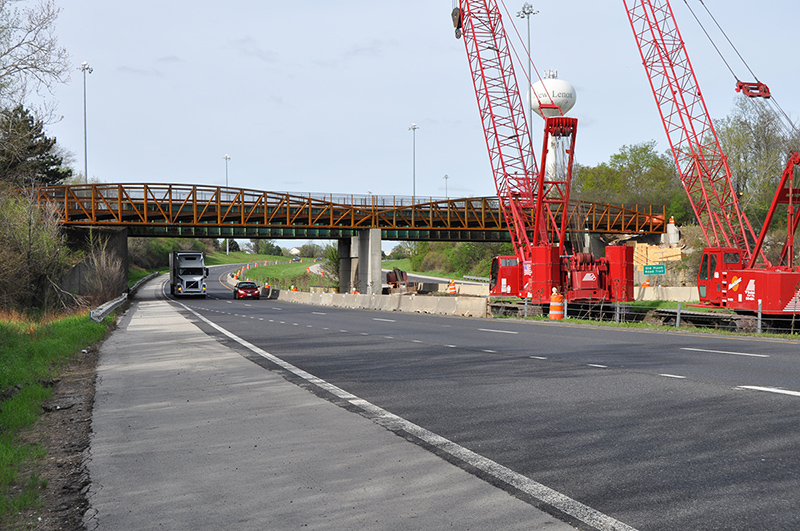 Photo for: IDOT Installs New Trail Bridge over I-80