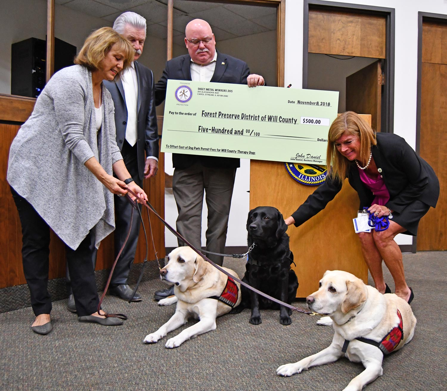 Photo for: Therapy Dog Permit Fund Established with Sheet Metal Workers