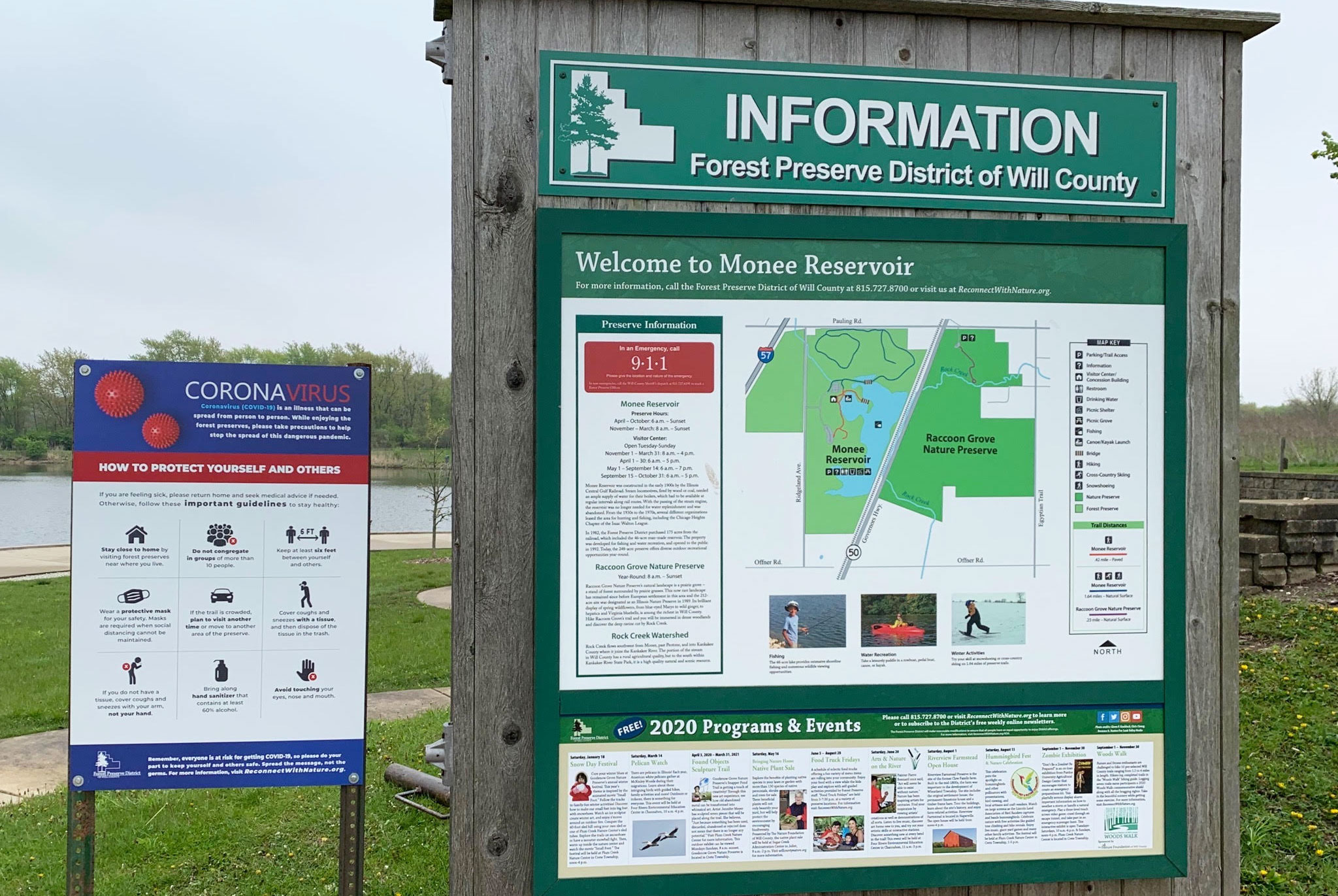 Photo for: Keep Your Distance: COVID-19 Info Signs Installed