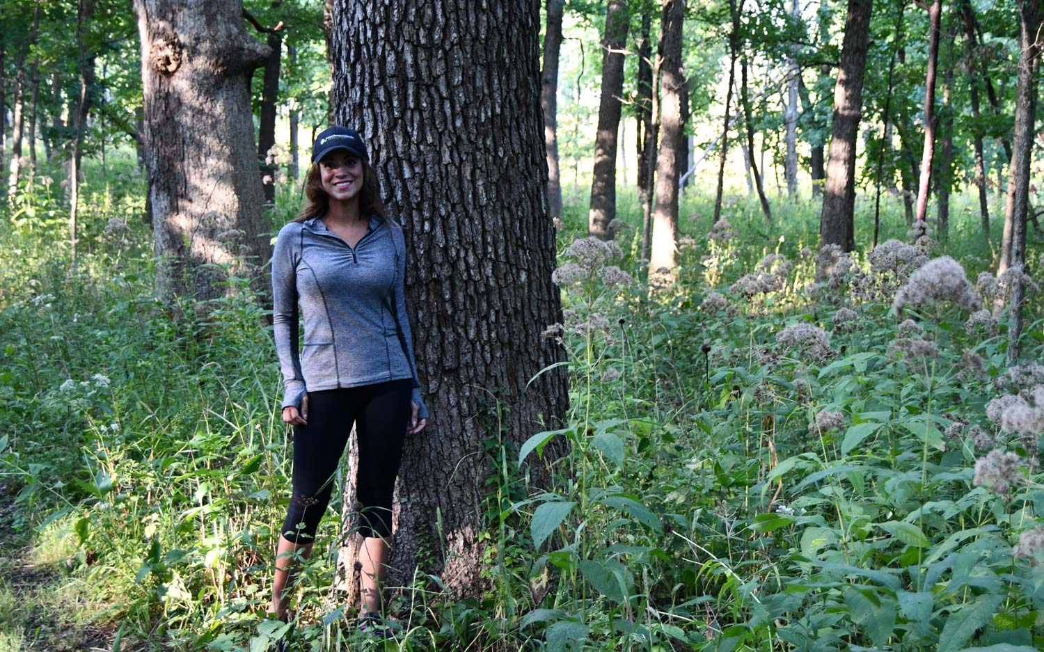Photo for: Denise Steffen's 'Happy Place': Mighty oaks along the Hickory Creek Bikeway